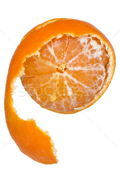 Peeled  tangerine or mandarin fruit Stock photo © Grazvydas