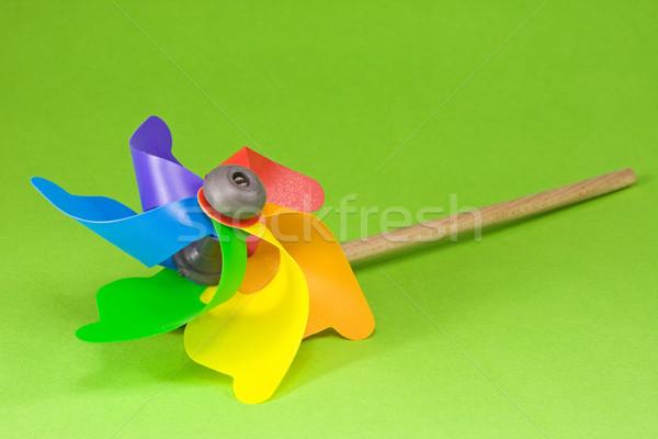 Colorful pinwheel over green Stock photo © Grazvydas