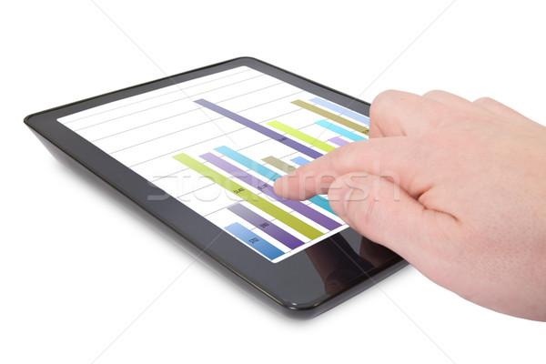businessman pointing the graph on pad Stock photo © Grazvydas