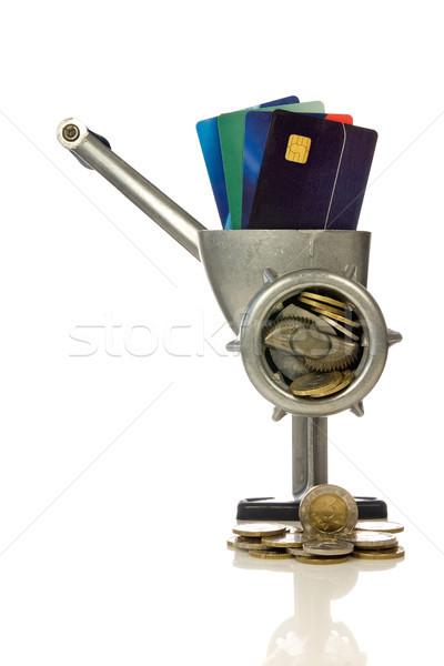 Kredi kartları eski iş kart nakit finansal Stok fotoğraf © Grazvydas