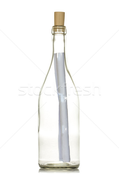 Levél üzenet üveg fehér posta segítség Stock fotó © Grazvydas