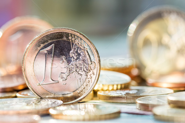 Extremely close up view of European currency Stock photo © Grazvydas