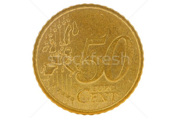 Fifty euro cents coin Stock photo © Grazvydas