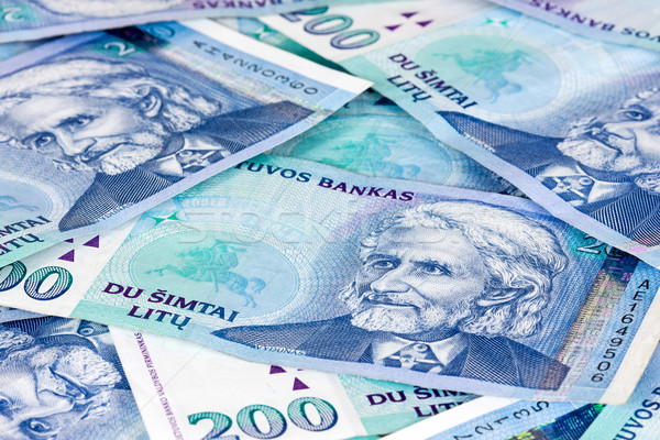 Lithuanian currency background Stock photo © Grazvydas