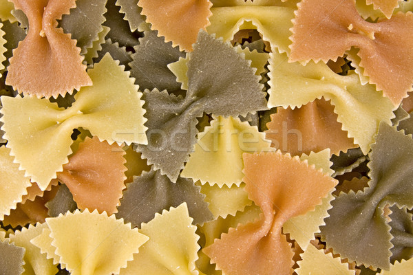 close up of  multi-colored bow pasta Stock photo © Grazvydas