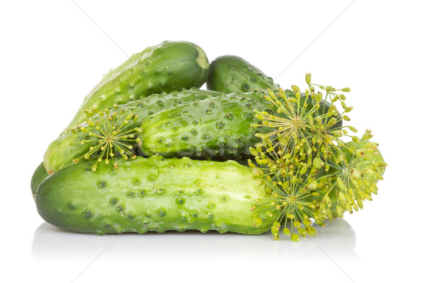 Fresh cucumbers with fennel  Stock photo © Grazvydas