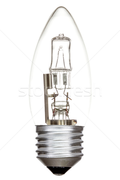 Halojen ampul beyaz yalıtılmış lamba enerji Stok fotoğraf © Grazvydas