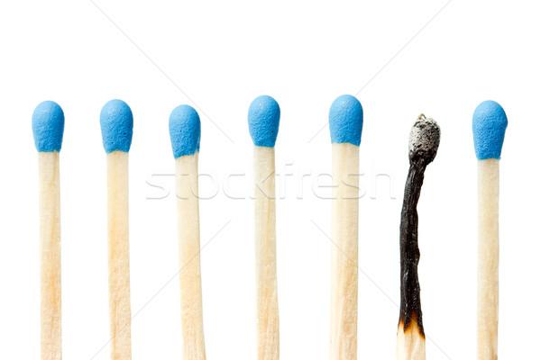 матча все синий матчи изолированный белый Сток-фото © Grazvydas