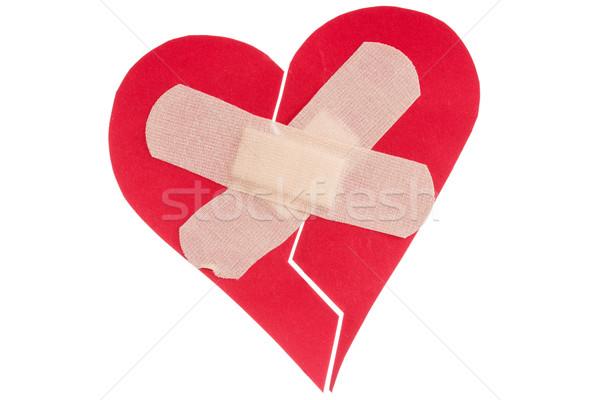 штукатурка изолированный белый медицинской сердце Сток-фото © Grazvydas