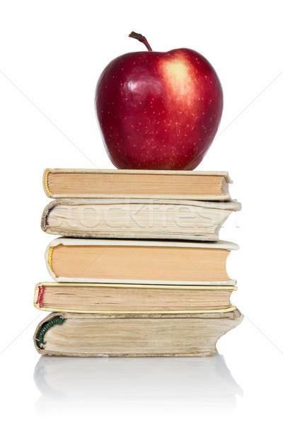 Libri mela top bianco libro Foto d'archivio © Grazvydas