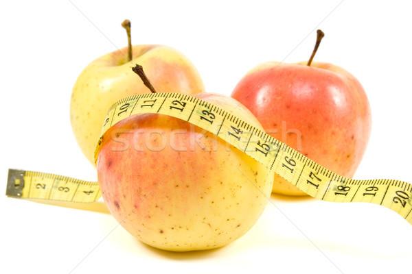 Egészséges élet mérőszalag fehér friss diéta ötlet Stock fotó © Grazvydas