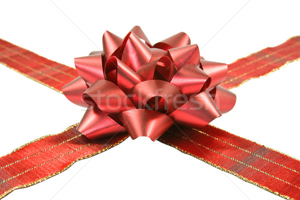 ribbon with bow over a white background Stock photo © Grazvydas