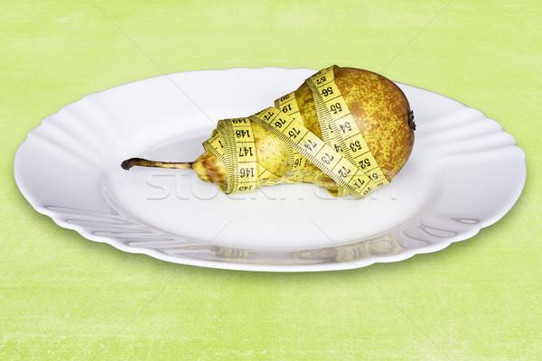 Diétás étel egészséges körte méret fitnessz Stock fotó © Grazvydas