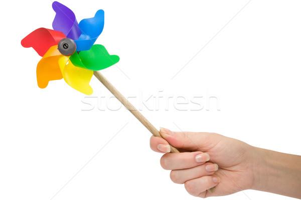 hand with a color pinwheel Stock photo © Grazvydas