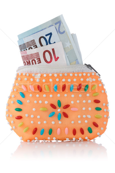 decorated wallet with euro currency Stock photo © Grazvydas