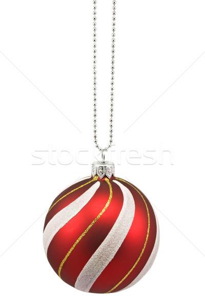 hung striped christmas bauble Stock photo © Grazvydas