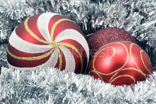 Рождества гирлянда праздник красный зима Сток-фото © Grazvydas
