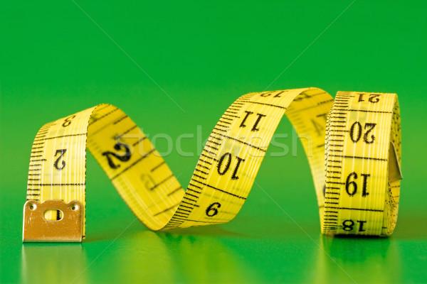 рулетка зеленый желтый мера моде ткань Сток-фото © Grazvydas
