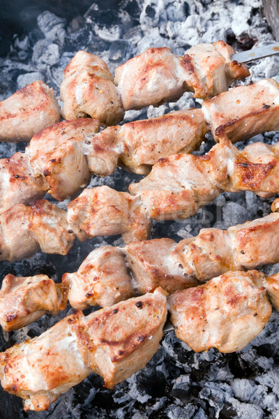 meat cooking on a skewer Stock photo © Grazvydas