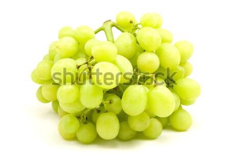 green grapes isoleted on white Stock photo © Grazvydas