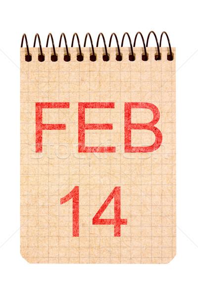 14 kalender recycleren papier geïsoleerd witte Stockfoto © Grazvydas