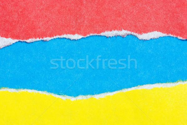 цвета бумаги Torn пространстве текстуры аннотация Сток-фото © Grazvydas