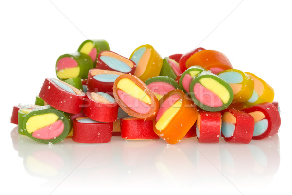 Jelly sweets with reflection on white background Stock photo © Grazvydas