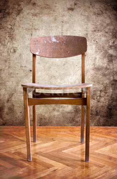 wooden chair in a dirty room Stock photo © Grazvydas