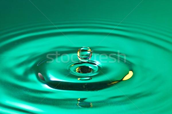 calm droplet splash in a water Stock photo © Grazvydas