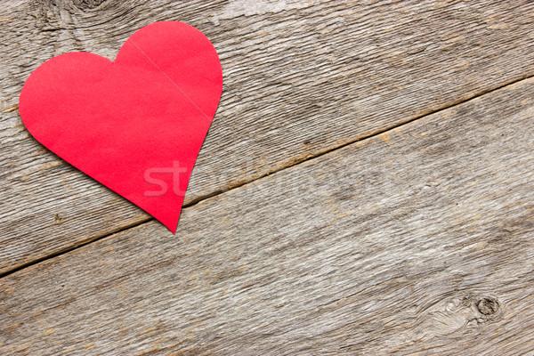 Rosso cuore legno amore Foto d'archivio © Grazvydas