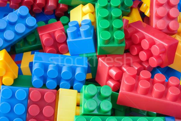 Colorato plastica mattoni foto giocattolo Foto d'archivio © Grazvydas