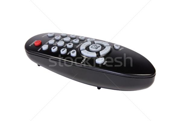 черный пультом изолированный белый телевидение связи Сток-фото © Grazvydas