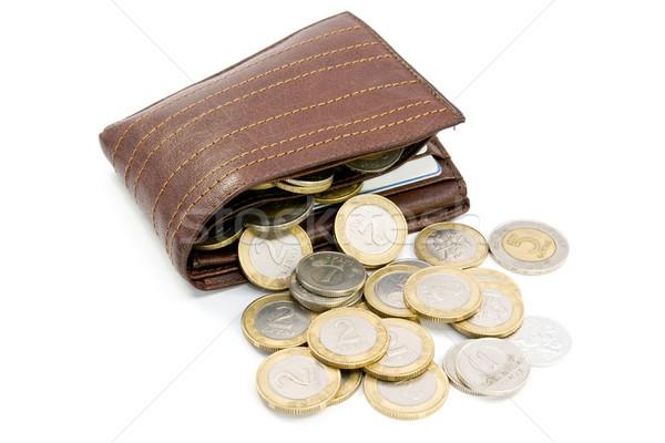 coins spilling out of open  wallet Stock photo © Grazvydas