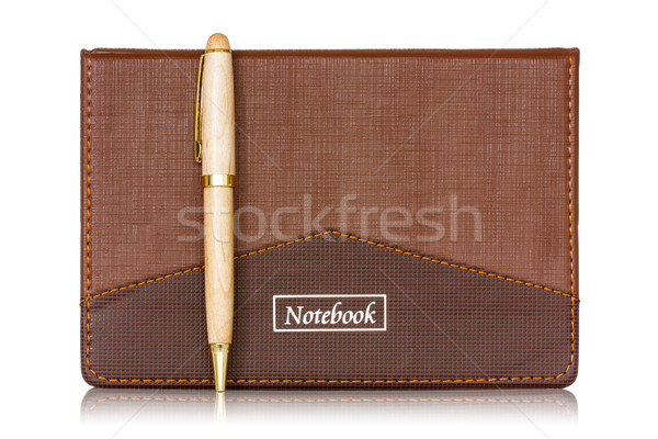 Brown notebook and pen Stock photo © Grazvydas