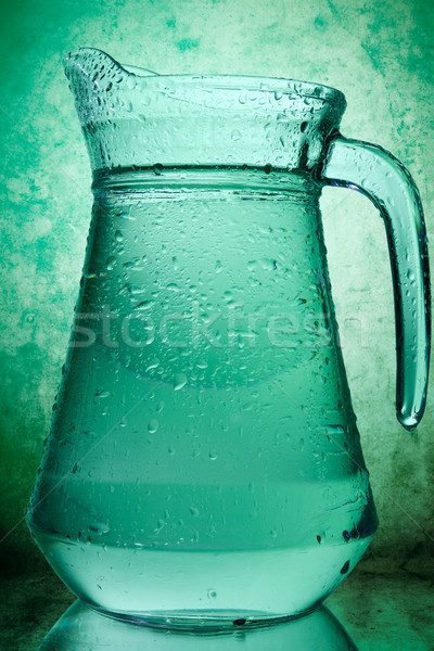 Stock photo: water in a glass pitcher