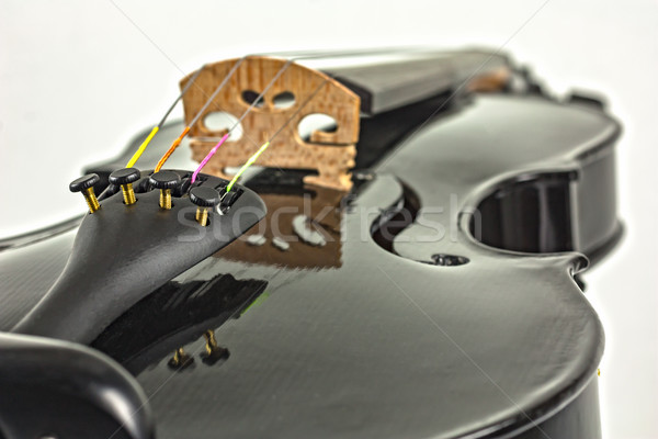 Сток-фото: черный · скрипки · белый · музыку
