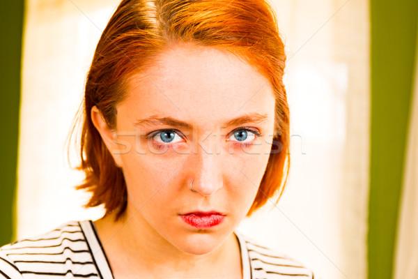 Headshot of Redhead Girl Stock photo © gregorydean