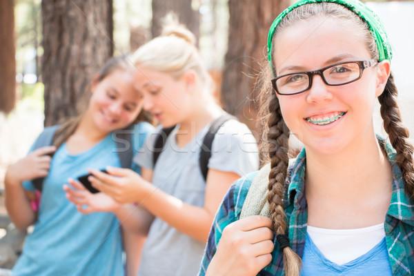 女学生 友達 3  小さな 一緒に ストックフォト © gregorydean