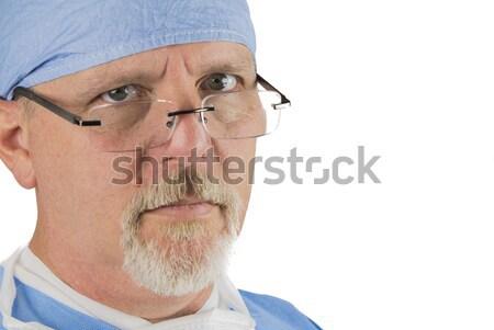 外科医 眼鏡 外科的な ユニフォーム 笑顔 眼 ストックフォト © gregorydean