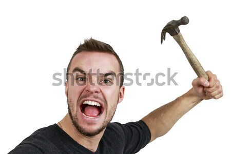 Man With Hammer in Hand Stock photo © gregorydean