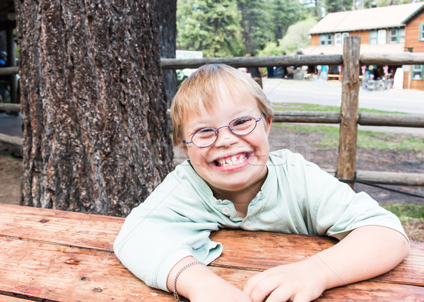 Cut Little Boy With Downs Syndrome Stock photo © gregorydean