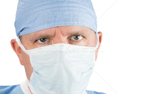 外科医 マスク 眼 顔 医師 ストックフォト © gregorydean