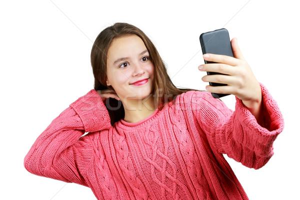 少女 美しい 小さな 幸せ ファッション ストックフォト © gregorydean