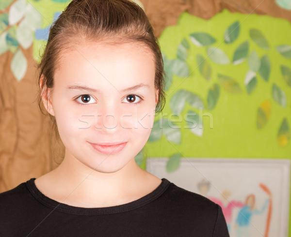 若い女の子 見える カメラ 美しい ストレート 目 ストックフォト © gregorydean