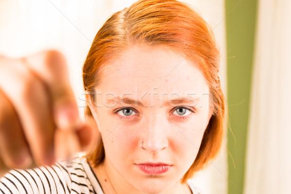 クローズアップ 少女 鉛筆 手 ぼかし フォアグラウンド ストックフォト © gregorydean
