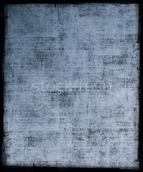 Mavi grunge kirli çerçeve sanat siyah Stok fotoğraf © grivet