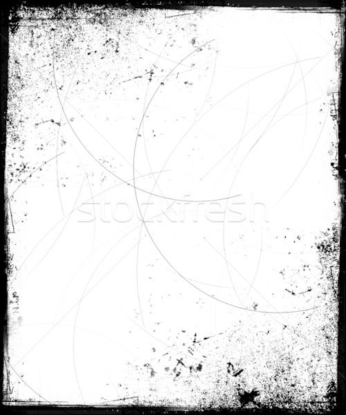 Grunge çerçeve siyah beyaz arka plan Retro mürekkep Stok fotoğraf © grivet