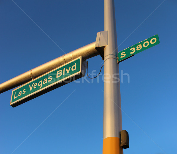 Las Vegas Boulevard Signage Stock photo © grivet