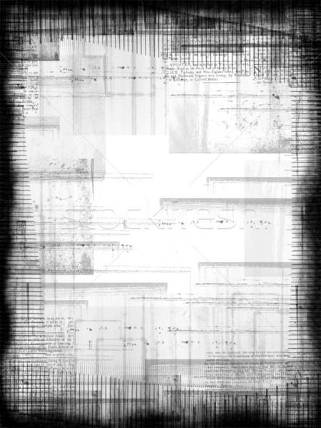Grunge çerçeve siyah beyaz fotoğrafçılık arka plan mürekkep Stok fotoğraf © grivet