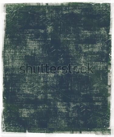 Yeşil grunge kirli çerçeve arka plan mürekkep Stok fotoğraf © grivet